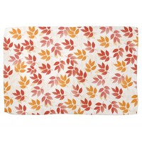 Autumn Leaves Pattern Kitchen Towels