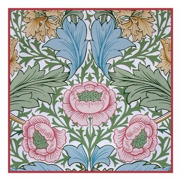 Arts & Crafts Style William Morris Myrtle Design Counted Cross Stitch or Counted Needlepoint Pattern