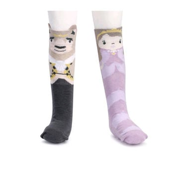 Novelty Socks BEAUTY & THE BEAST KNEE SOCKS Fabric Toddler Non Skid 5004700488