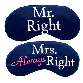MR. RIGHT AND MRS. ALWAYS RIGHT EYE MASK SET