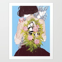 Strawberry Milk Art Print by Aster Hung (Soap!)