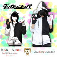 New Super Cool Monobear Dangan Ronpa Anime Cosplay Hoodie Jacket Longsleeve Thick Winter KK608