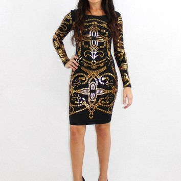 The Gold Digger Metallic Dress