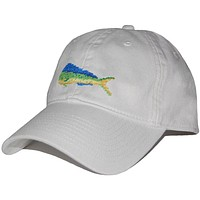 Mahi Needlepoint Hat in White by Smathers & Branson