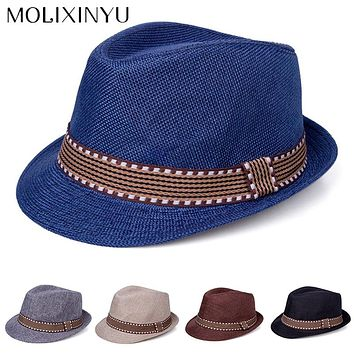 029775b8c5f MOLIXINYU Baby Hat Children Jazz Straw Cap Baby Boys Girls Cap B