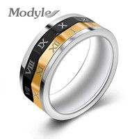 Number Rings for men  Stainless Steel Punk Party Ring