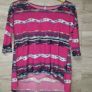 Pink Striped Tunic - CLOSEOUT