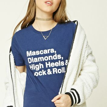 Mascara Diamonds Graphic Tee