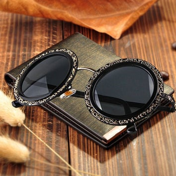 Vintage Sunglasses Uv Proof Glasses Mirror [4915053316]