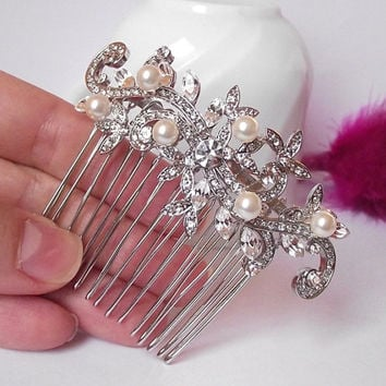 crystal bridal hair comb, wedding hair accessories, wedding hair comb, swarovski hair comb,wedding hair piece,art deco comb,bridal hairpiece