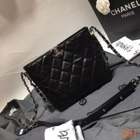 232 Fashion Pop Qulited Chain Tote Crossbody Large Bag size 23