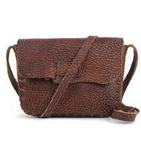 Genuine Leather Shoulder Bag With Magnet Closure, Small Corssbody, Saddle Bag, Messenger Purses, 8W508