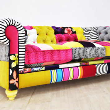 Chesterfield Patchwork Sofa Color From Name Design Studio