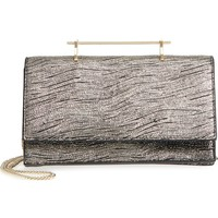M2Malletier Alexia Metallic Calfskin Leather Clutch | Nordstrom