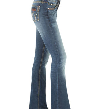Wrangler Women's Medium Wash Retro Mae Jeans