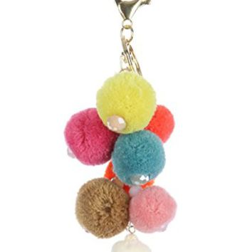 Pom Pom Charm Bag Accessory Gold Key Chain MMK31186GDMLT