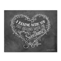"Lumineers Lyric ""I Belong With You"" - Print"
