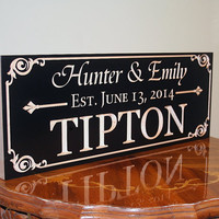 Custom Sign For Wedding Family Name Established Sign Personalized Sign Man Cave Decor Established Family Sign Maple  AA