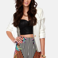 The Show Must Go On Silk Print Shorts