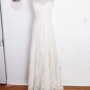 Bohemian All Lace Wedding Dress