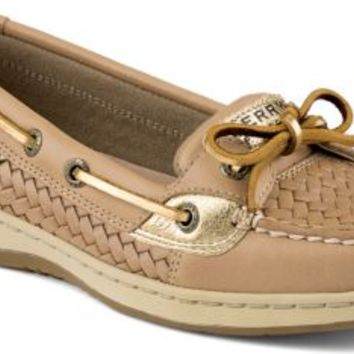 Sperry Top-Sider Angelfish Woven Slip-On Boat Shoe LinenWovenLeather, Size 9M  Women's Shoes