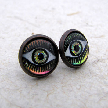 All Seeing Eye Earrings  Color Changing Earrings  by AshleySpatula
