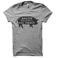 Bacon It's What's For Dinner Ladies T-Shirt - bacon t shirt pork tshirt gift pig love tee t-shirt