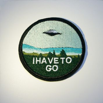 Embroidery Flying Saucer UFO Sew On / Iron On Patch Badge Bag Hat Cap Jeans Applique Craft DIY
