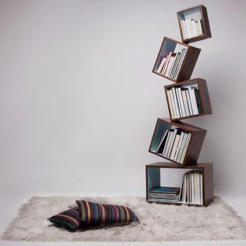 Equilibrium Wood Bookcase