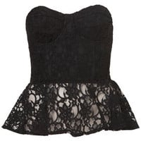 Lace Peplum Corset - Tops - Sale  - Sale & Offers