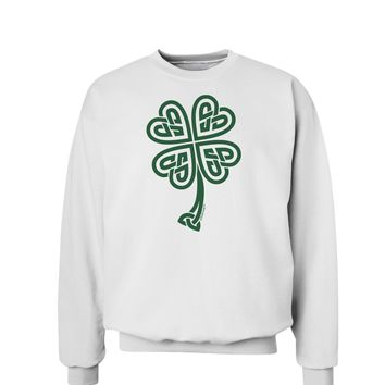Celtic Knot 4 Leaf Clover St Patricks Sweatshirt