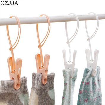 XZJJA Creative 12pcs/lot Multi-function Portable Clothes Towels Socks Hanger Clip Windproof Underwear Clip For Clothes Pegs