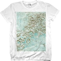 Lunar Map Tshirt NASA Moon Tee WOMENS Shirt