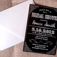 Vintage lace Bridal Shower invitation. Birthday. Party invitation. Personalized.