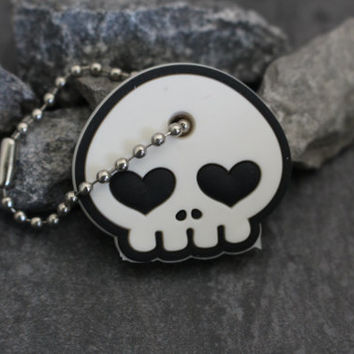 Skull Key Cover, Key Cap, Key Holder, Keychain, Key Fob, Keyring, Purse Charm, Purse Jewelry, Car Accessories, Cute Kawaii Gift Skull Candy