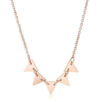 Rose Gold Triangle Chain Necklace