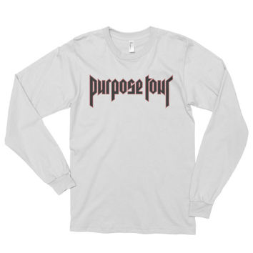2016 Justin Bieber Purpose Tour - TShirt - Bieber - Bieber Long Sleeve Shirt -  BieberT-Shirt - Justin Bieber Tour T-shirt