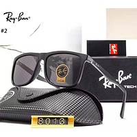 Ray-Ban 2019 new men and women big box driving color film polarized sunglasses #2