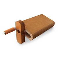 "4"" Swivel Cap Wooden Dugout - Classic Oak"