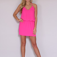 Simple Stunner Dress - Pink