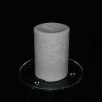 Strong Grape Scented Handmade Round Pillar Candle Concave Top