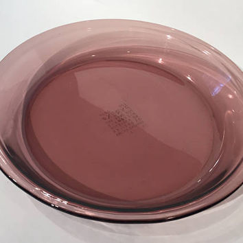 Pyrex Originals Cranberry Pie Plate, Vintage Pyrex Purple Glass Pie Plate