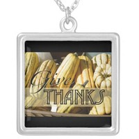 Thanksgiving Give Thanks Pendant