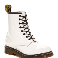 1460 White Patent Leather Boot