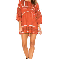 Free People Wild One Embroidered Top in Terracotta