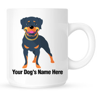 Personalized mug for your rottweiler