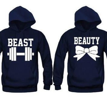 Beauty and Beast Very Cute Unisex Couple Matching Hoodies