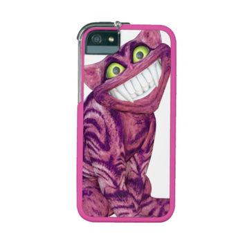 Pink Cheshire Cat Grinning / Smiling Alice in Wonderland iPhone 5/5S Case