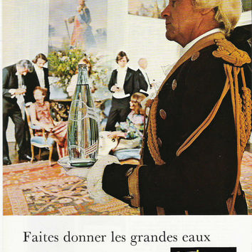 Wall Decor 1974 French Perrier Advertisement Perrier Advertising French Decor High Class Classic Classy Decor