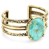 "Bronzed by Barse ""Jubilee"" Turquoise Cuff Bracelet - designer shoes, handbags, jewelry, watches, and fashion accessories 